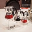 Bialetti mocha coffee pots at HOMI, home international show in Milan, Italy — Stock Photo #39489965