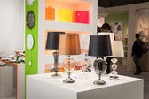 Lamps on display at HOMI, home international show in Milan, Italy — Stock Photo