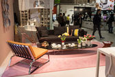 Home furnishings on display at HOMI, home international show in Milan, Italy — Stock Photo