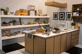 Cardboard home furnishings on display at HOMI, home international show in Milan, Italy — Stock Photo