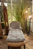 Classical couch on display at HOMI, home international show in Milan, Italy — Stock Photo