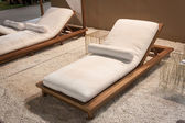 Beach lounger on display at HOMI, home international show in Milan, Italy — Stock Photo
