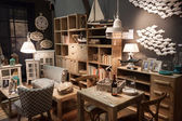 Living room on display at HOMI, home international show in Milan, Italy — Stock Photo