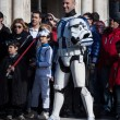 People of 501st Legion take part in Star Wars Parade in Milan, Italy — Stock Photo #39756583
