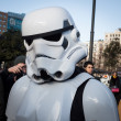 People of 501st Legion take part in Star Wars Parade in Milan, Italy — Stock Photo #39756593
