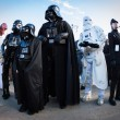 Постер, плакат: People of 501st Legion take part in the Star Wars Parade in Milan Italy