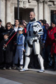 People of 501st Legion take part in the Star Wars Parade in Milan, Italy — Stock Photo