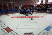 Giant Monopoly game at Festival del Fumetto convention in Milan, Italy — Foto de Stock