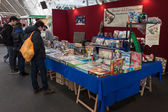 People visiting Festival del Fumetto convention in Milan, Italy — Stock Photo