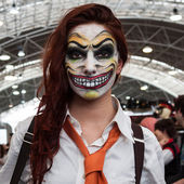 Cosplayer posing at Festival del Fumetto convention in Milan, Italy — Stockfoto