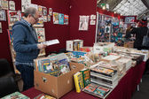 Comics on display at Festival del Fumetto convention in Milan, Italy — 图库照片