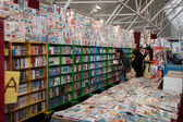 Quadrinhos em exposição no festival del fumetto convenção em milão, itália — Fotografia Stock