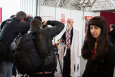 Cosplayer posing at Festival del Fumetto convention in Milan, Italy — ストック写真