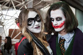 Cosplayers posing at Festival del Fumetto convention in Milan, Italy — ストック写真