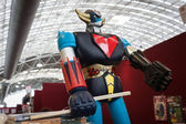 Goldrake robot toy on display at Festival del Fumetto convention in Milan, Italy — ストック写真