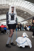 Cosplayer posing at Festival del Fumetto convention in Milan, Italy — Foto Stock
