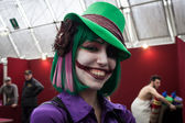 Cosplayer posing at Festival del Fumetto convention in Milan, Italy — Foto de Stock