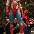 Bodybuilders during a body painting session at Milano Tattoo Convention — Stock Photo #40592401