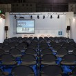 Empty conference room at Bit 2014, international tourism exchange in Milan, Italy — Stock Photo