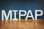 Ingang op mipap-beurs in Milaan, Italië — Stockfoto