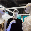Stock Photo: Mannequins wearing sunglasses at Mido 2014 in Milan, Italy