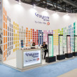 Stock Photo: Exhibitors in their stand at Mido 2014 in Milan, Italy