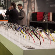 Glasses on display at Mido 2014 in Milan, Italy — Stock Photo