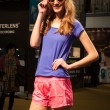 Pretty girl modelling with glasses at Mido 2014 in Milan, Italy — Stock Photo #41929303