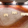 Glasses on display at Mido 2014 in Milan, Italy — Stock Photo #41929447