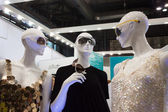 Mannequins wearing sunglasses at Mido 2014 in Milan, Italy — Stock Photo