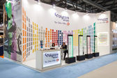 Exhibitors in their stand at Mido 2014 in Milan, Italy — Stock Photo