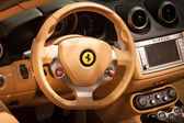 Detail of Ferrari cockpit at Mido 2014 in Milan, Italy — Stock Photo