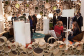 People visiting Mido 2014 in Milan, Italy — Stock Photo