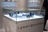 Tommy Hilfiger glasses on display at Mido 2014 in Milan, Italy — Stock Photo