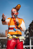 Clown Moriss taking part in Milan Clown Festival 2014 — Foto Stock