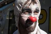 Portrait of a clown at Milan Clown Festival 2014 — Stock Photo