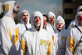 Performers taking part in Milan Clown Festival 2014 — Stock Photo
