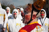 Artistes interprètes ou exécutants participant au festival de clown de milan 2014 — Photo