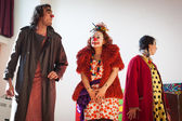 Performers taking part in Milan Clown Festival 2014 — Foto Stock
