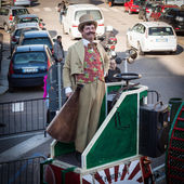 Performer taking part in Milan Clown Festival 2014 — Stock Photo