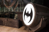 Batsignal device at Cartoomics 2014 in Milan, Italy — Stock Photo