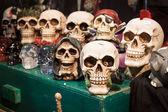 Skulls at Cartoomics 2014 in Milan, Italy — Stock Photo
