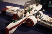 Lego starfighter at Cartoomics 2014 in Milan, Italy — Stock Photo