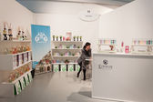 Perfumer's stand at Esxence 2014 in Milan, Italy — Stock Photo