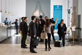 People visiting Esxence 2014 in Milan, Italy — Stock Photo