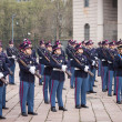 Military school cadets taking part in the oath ceremony — Stock Photo #43239923