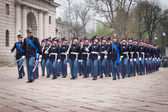 Military school cadets taking part in the oath ceremony — Stock fotografie