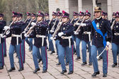 Military school cadets taking part in the oath ceremony — Stock Photo