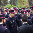 Military school cadets taking part in the oath ceremony — Stock Photo #43240017