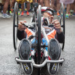 Disabled athlete taking part in Stramilano half marathon — Stock Photo #43325595